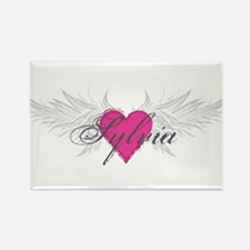 Sylvia-angel-wings.png Rectangle Magnet