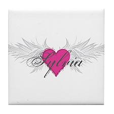 Sylvia-angel-wings.png Tile Coaster