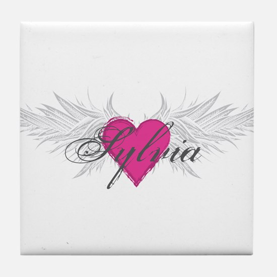 Sylvia-angel-wings.png Tile Coaster