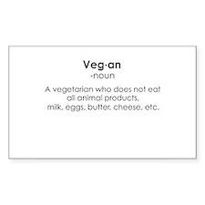 Vegan Rectangle Decal