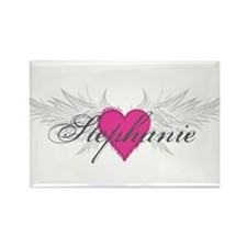 Stephanie-angel-wings.png Rectangle Magnet