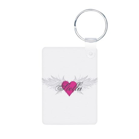 Stella-angel-wings.png Aluminum Photo Keychain