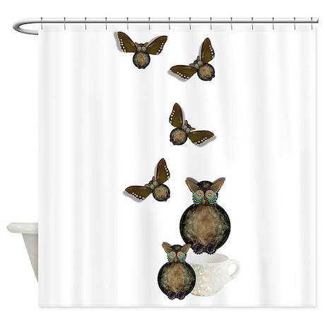 Clockwork Owls Shower Curtain
