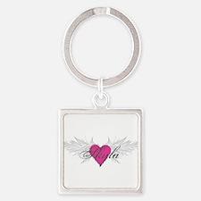 Skyla-angel-wings.png Square Keychain