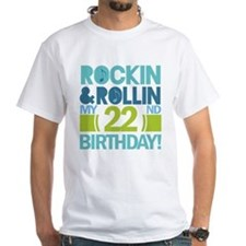 22nd Birthday Rock and Roll Shirt
