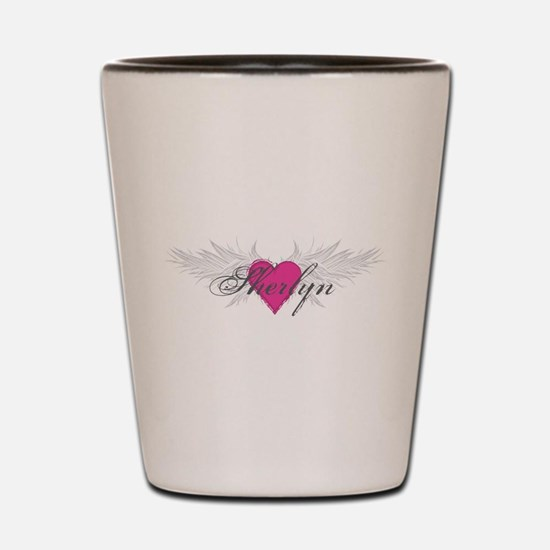Sherlyn-angel-wings.png Shot Glass