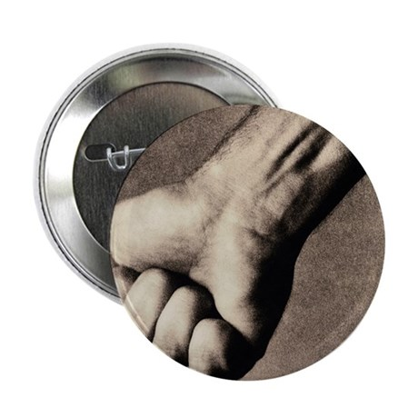 Man's clenched fist - 2.25' Button (100 pack)