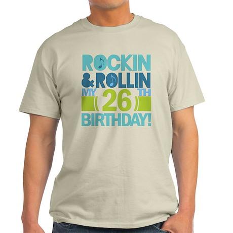 26th Birthday Rock and Roll Light T-Shirt
