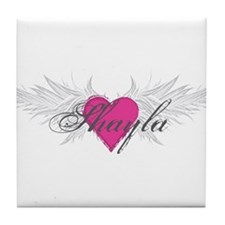 Shayla-angel-wings.png Tile Coaster