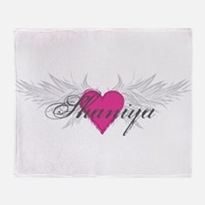 Shaniya-angel-wings.png Throw Blanket