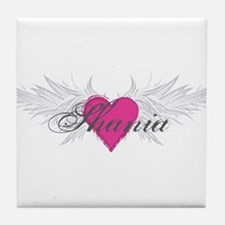 Shania-angel-wings.png Tile Coaster