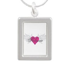 Selena-angel-wings.png Silver Portrait Necklace