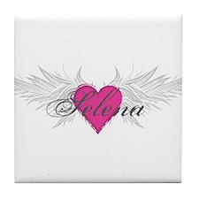 Selena-angel-wings.png Tile Coaster