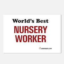 World's Best Nursery Worker Postcards (Package of