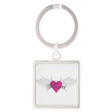 Sarai-angel-wings.png Square Keychain
