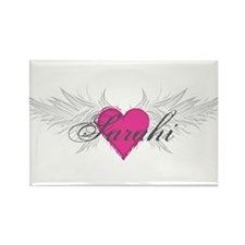 Sarahi-angel-wings.png Rectangle Magnet