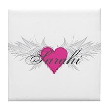 Sarahi-angel-wings.png Tile Coaster