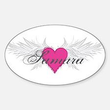 Samara-angel-wings.png Sticker (Oval)