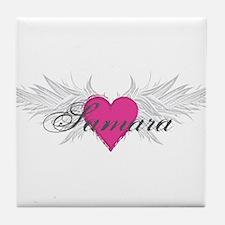 Samara-angel-wings.png Tile Coaster