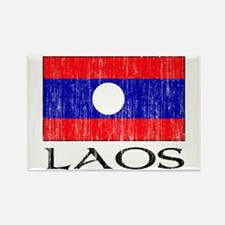 Laos Flag Rectangle Magnet