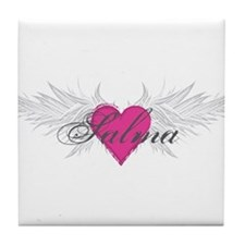 Salma-angel-wings.png Tile Coaster