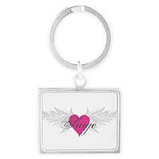 Saige-angel-wings.png Landscape Keychain