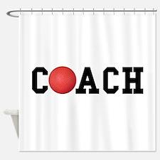 Dodge Ball Kickball Coach Shower Curtain