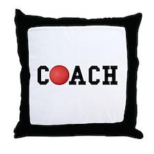 Dodge Ball Kickball Coach Throw Pillow