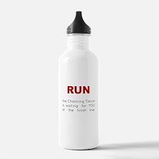 Running for Channing Tatum Water Bottle