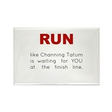 Running for Channing Tatum Rectangle Magnet