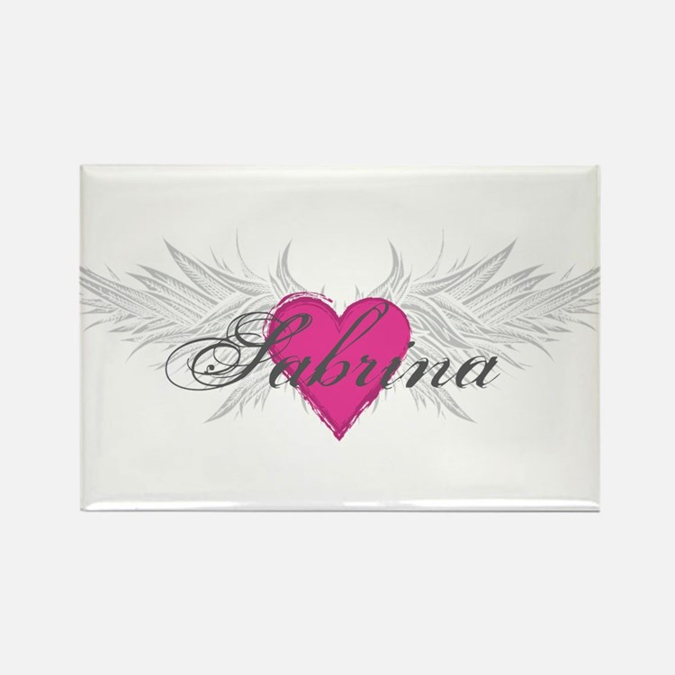 Sabrina-angel-wings.png Rectangle Magnet