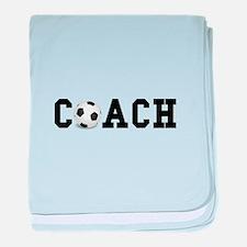 Soccer Coach baby blanket