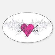 Rylie-angel-wings.png Sticker (Oval)
