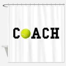 Tennis Coach Shower Curtain