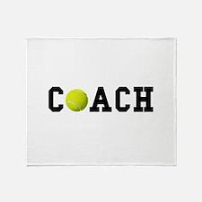 Tennis Coach Throw Blanket