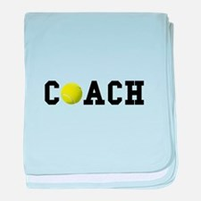 Tennis Coach baby blanket