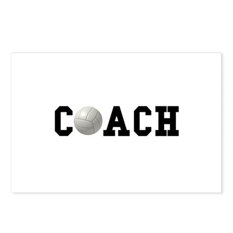 Volleyball Coach Postcards (Package of 8)
