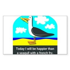 Happier than a Seagull with a French Fry Decal