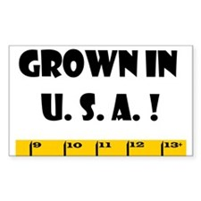 Ruler Grown In U.S.A! Rectangle Decal
