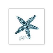By the Sea Starfish Square Sticker 3