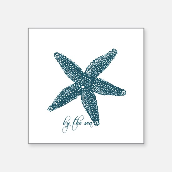 "By the Sea Starfish Square Sticker 3"" x 3"""