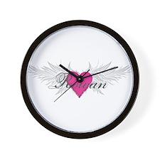 Rowan-angel-wings.png Wall Clock
