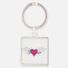 Reyna-angel-wings.png Square Keychain