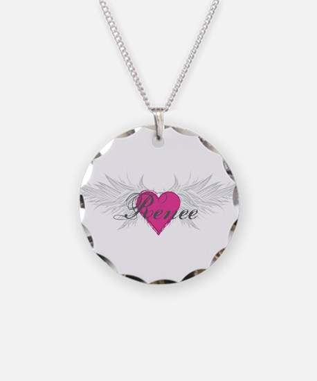 Renee-angel-wings.png Necklace Circle Charm