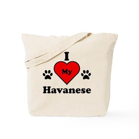I Heart My Havanese Tote Bag