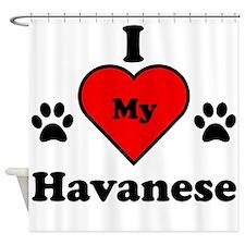 I Heart My Havanese Shower Curtain