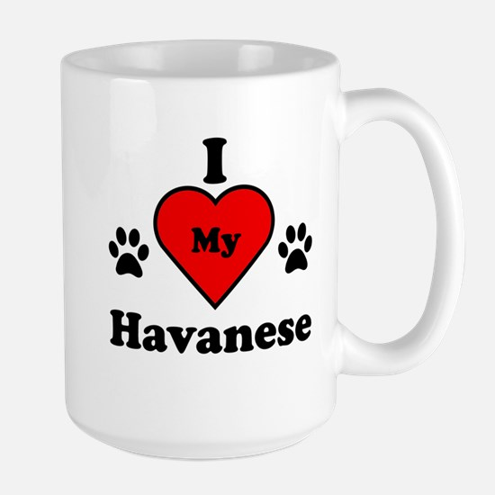 I Heart My Havanese Large Mug