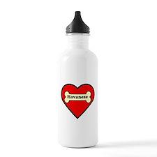 Havanese Heart Water Bottle