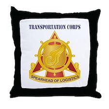 Transportation Corps Throw Pillow