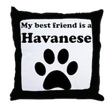 Havanese Best Friend Throw Pillow